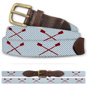 Rowing Crew Oars Classic Cotton Belt