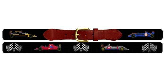 Grand Prix Needlepoint Belt