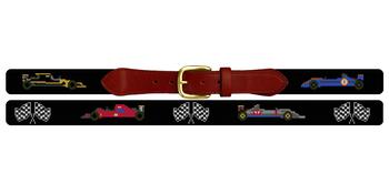 Grand Prix Needlepoint Belt