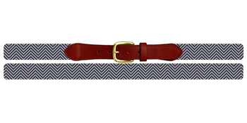 Classic Twill Needlepoint Belt