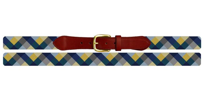 Triangular Wave Needlepoint Belt