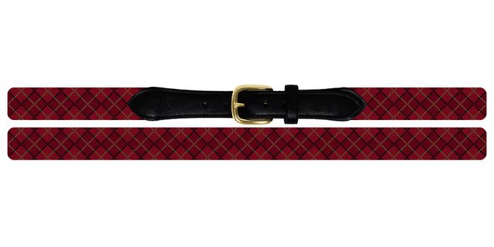 Classic Argyle Needlepoint Belt