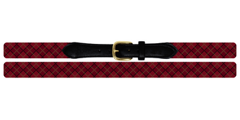 Classic Argyle Needlepoint Belt