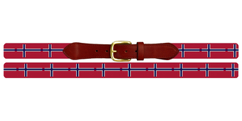 Norway Flag Needlepoint Belt