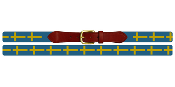 Flag of Sweden Needlepoint Belt