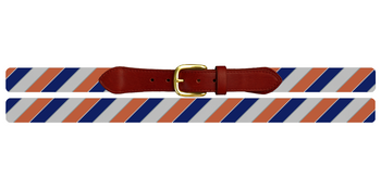Diagonal Stripe Needlepoint Belt