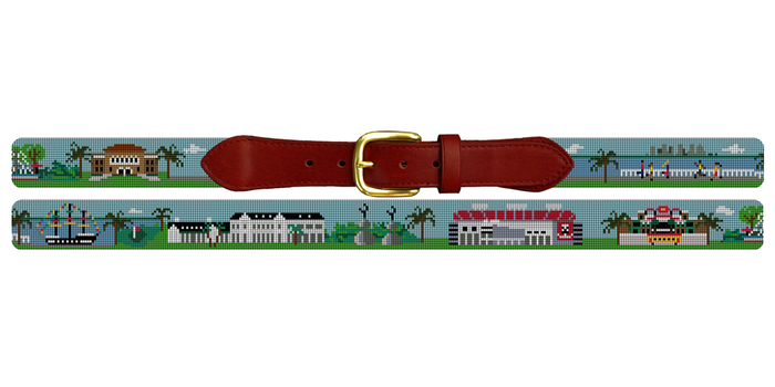 South Tampa Landscape Needlepoint Belt