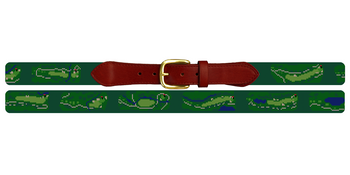 Northwood Club Golf Course Needlepoint Belt