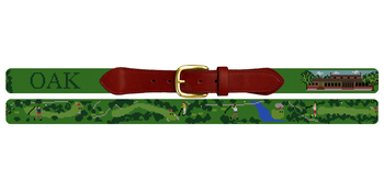 Brook Hollow Golf Club Needlepoint Belt