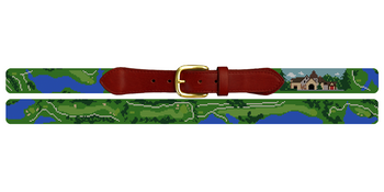 Capital City Club Golf Course Needlepoint Belt