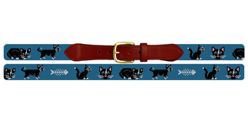 Black Cat Needlepoint Belt