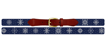 Winter Snowflake Needlepoint Belt