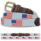 Custom American Flag Classic Cotton Belt