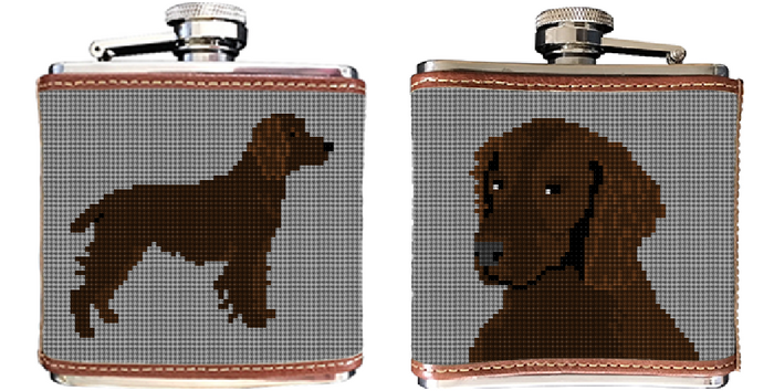 Boykin Spaniel Needlepoint Flask
