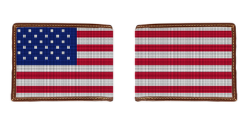 Patriotic US Flag Needlepoint Wallet