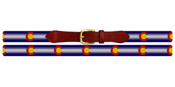 Colorado Needlepoint Belt
