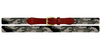 Desert Camo Needlepoint Belt