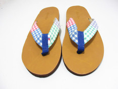 Gingham Flip Flops - Clearance