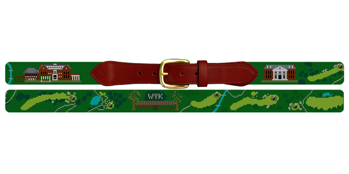 Wykagyl Country Club Golf Course Needlepoint Belt