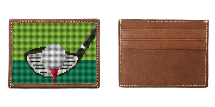 Golfers Needlepoint Card Wallet