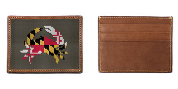 Maryland Flag Needlepoint Card Wallet