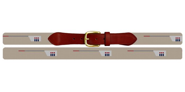 Custom Crew Team Needlepoint Belt