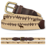 Moose in Woods Classic Cotton Belt
