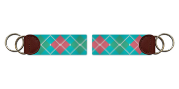 Argyle Needlepoint Key Fob