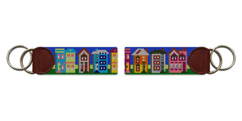 Painted Ladies Needlepoint Key Fob