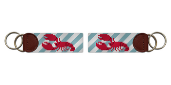Classic Lobster Needlepoint Key Fob