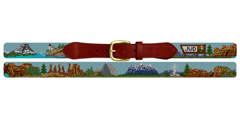 National Parks Needlepoint Belt