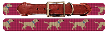 White Lab Needlepoint Dog Collar