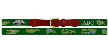 Caledonia Golf and Fish Club Needlepoint Belt