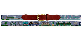 Newport Rhode Island Needlepoint Belt