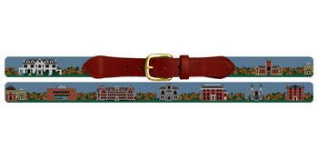 Bowdoin College Needlepoint Belt