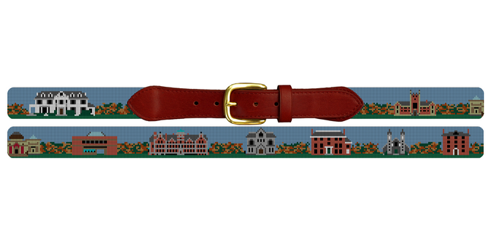 Bowdoin College Needlepoint Belt