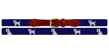 West Highland Terrier Needlepoint Belt