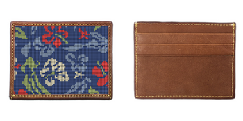 Aloha Hibiscus Needlepoint Card Wallet
