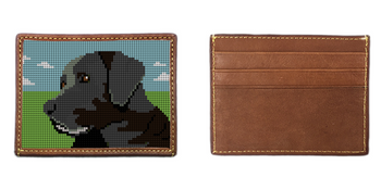 Black Lab Portrait Needlepoint Card Wallet