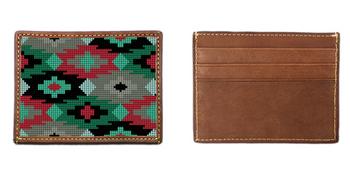Aztec Needlepoint Card Wallet
