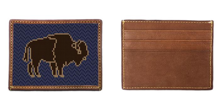 Buffalo Needlepoint Card Wallet
