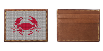 Crab Needlepoint Card Wallet