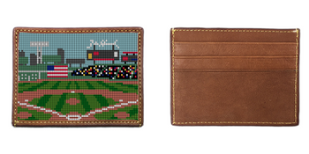 Baseball Field Needlepoint Card Wallet