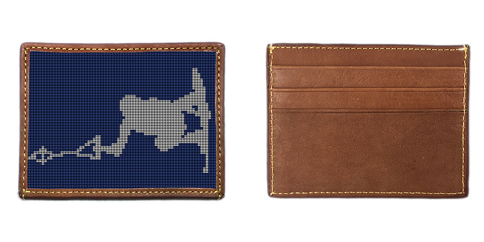 Wakeboard Needlepoint Card Wallet