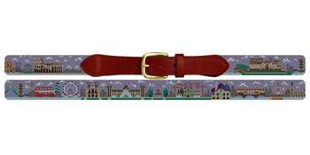 European Landscape Needlepoint Belt