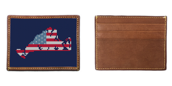 Martha's Vineyard Needlepoint Card Wallet