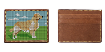 Golden Retriever Needlepoint Card Wallet