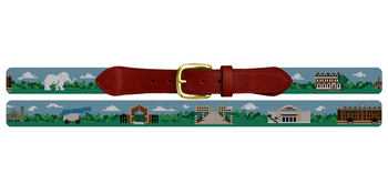 Tufts University Needlepoint Belt