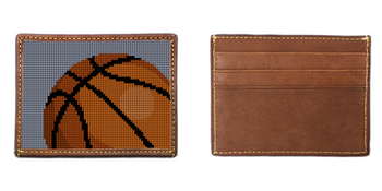 Basketball Needlepoint Card Wallet