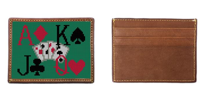 Poker Needlepoint Card Wallet